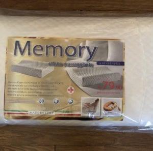 Guanciale Memory 79,90 euro